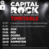 capital of rock timetable